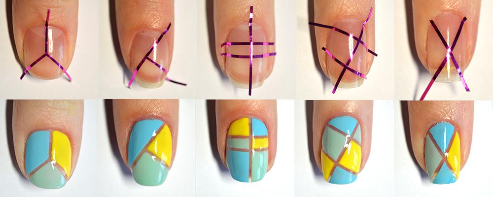 Рисунки на ногтях с пошаговой инструкцией