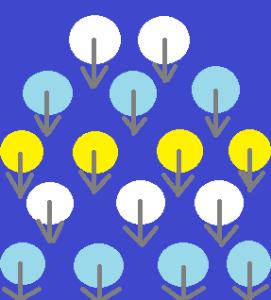 схема дизайна иголкой
