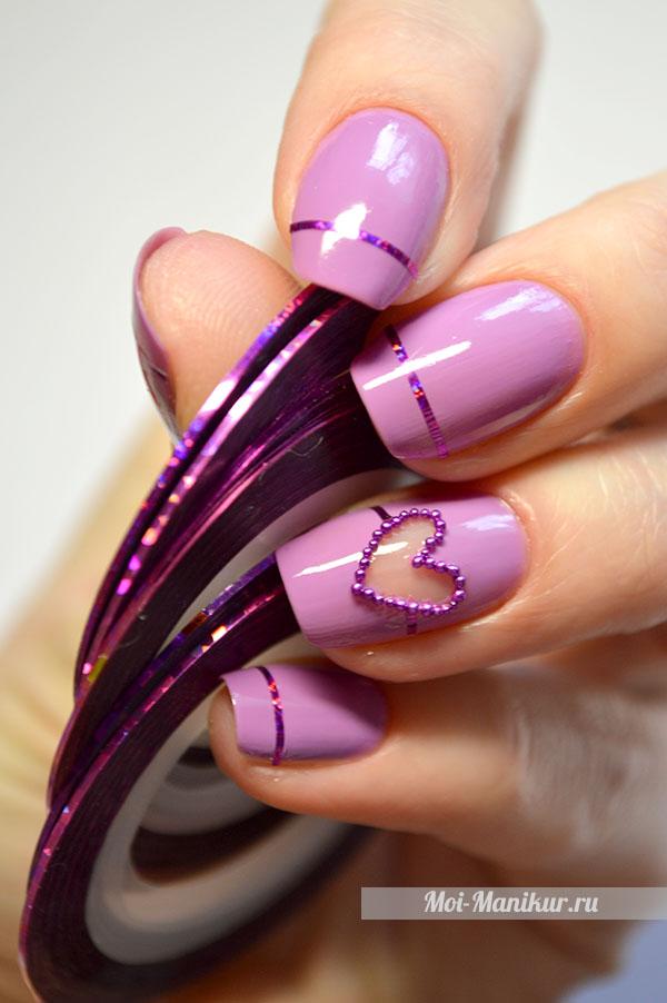 как нарисовать сердце на ногтях
