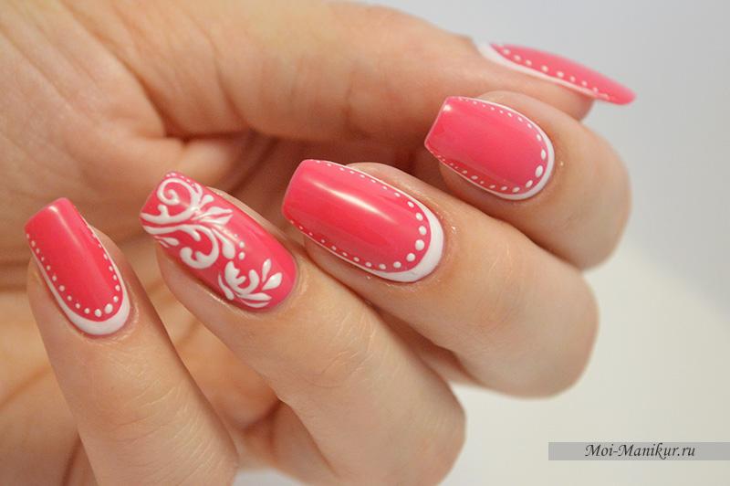 Шеллак Дизайн В Розовых Тонах