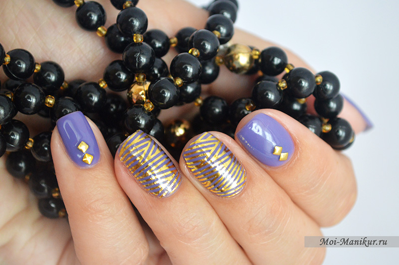 Дизайн ногтей гель-лаком с наклейками