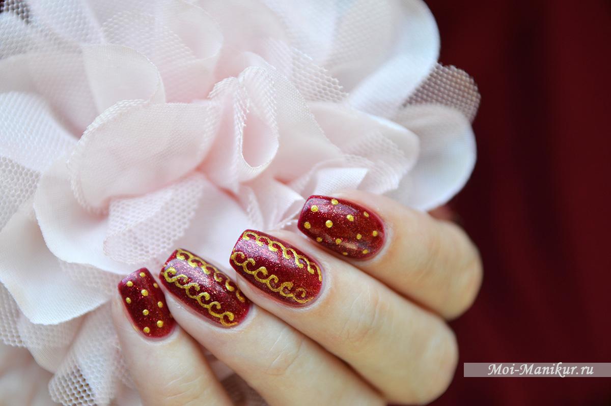 осенний дизайн ногтей гель-лаком