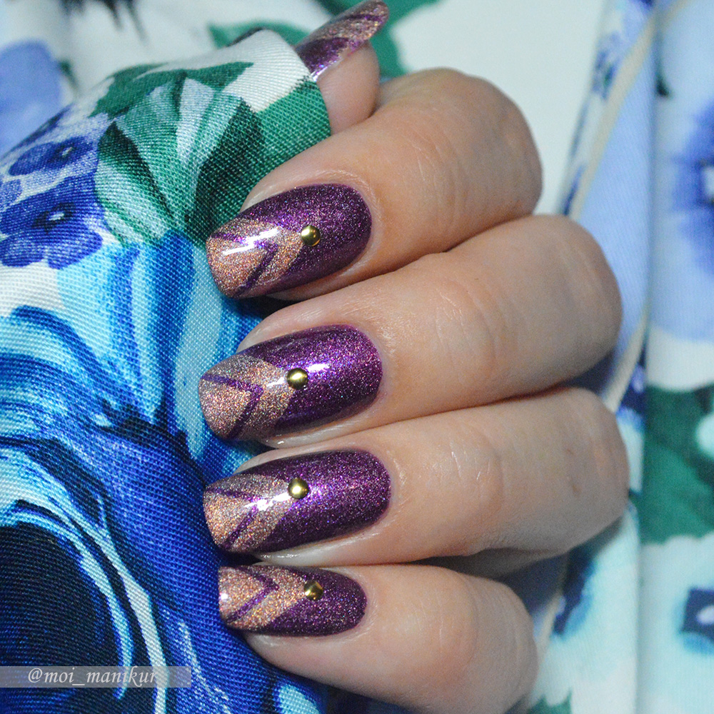 фиолетовый дизайн ногтей лаком Picture Polish Hussy