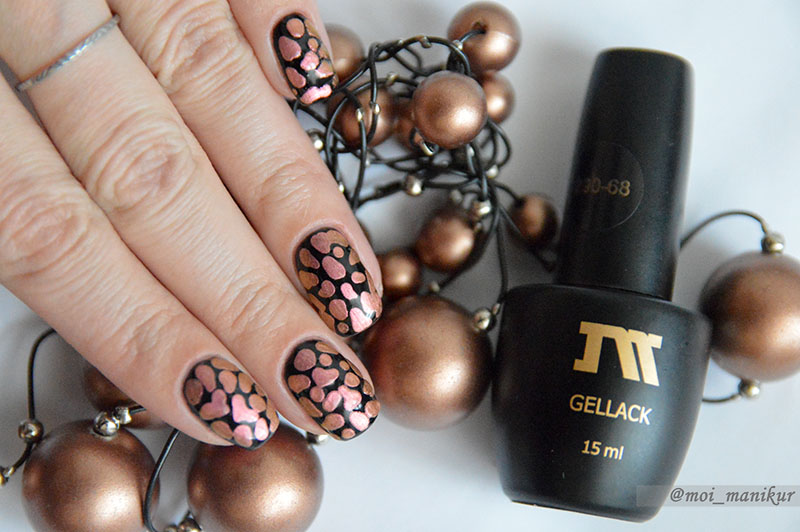 капельки на ногтях гель-лаком