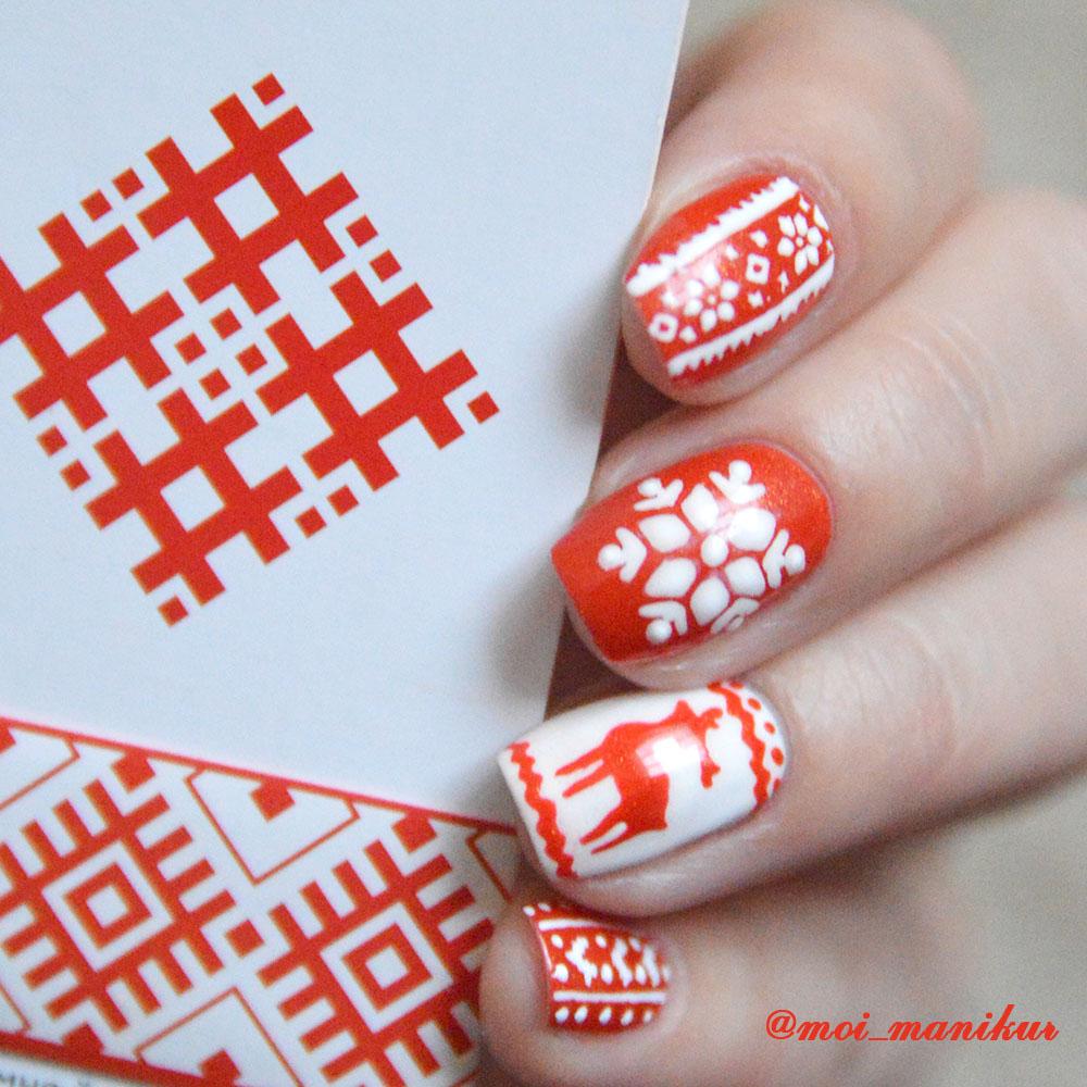 скандинавский дизайн ногтей гель-лаком