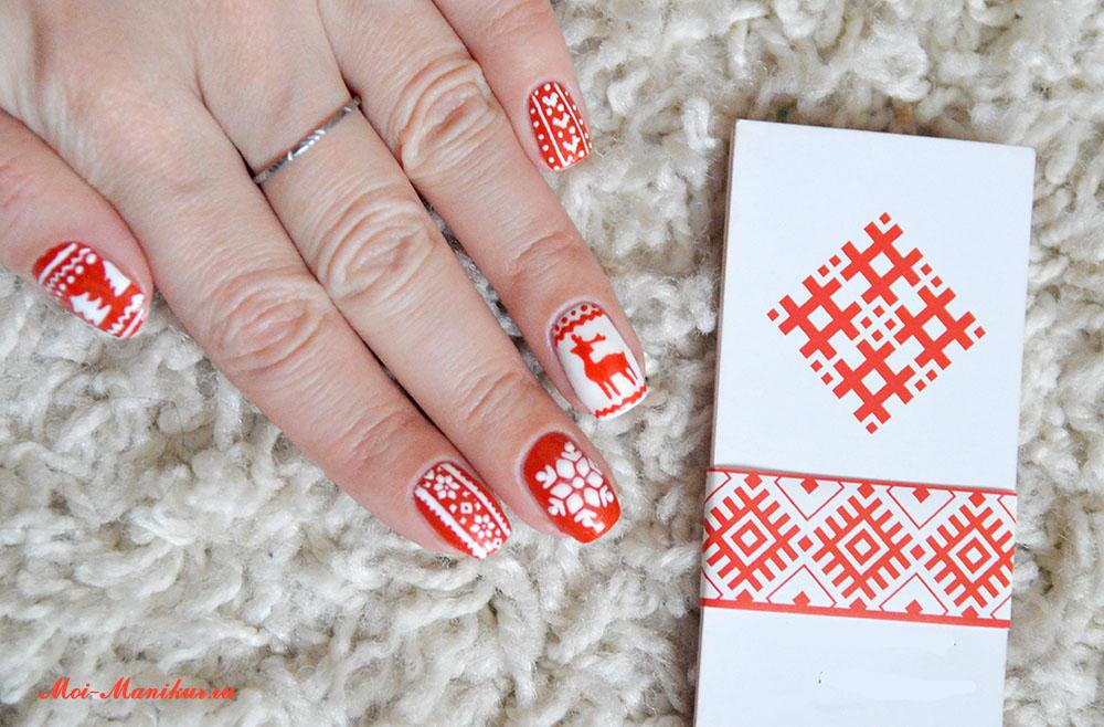 скандинавский дизайн ногтей