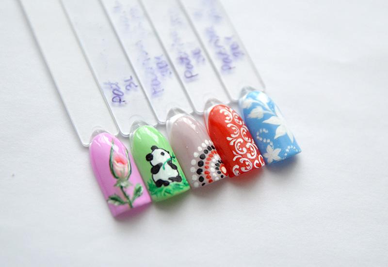 Дизайн ногтей кисточками Roubloff