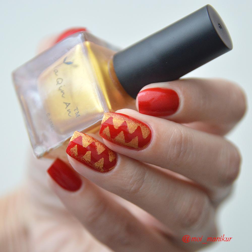 дизайн ногтей с трафаретами