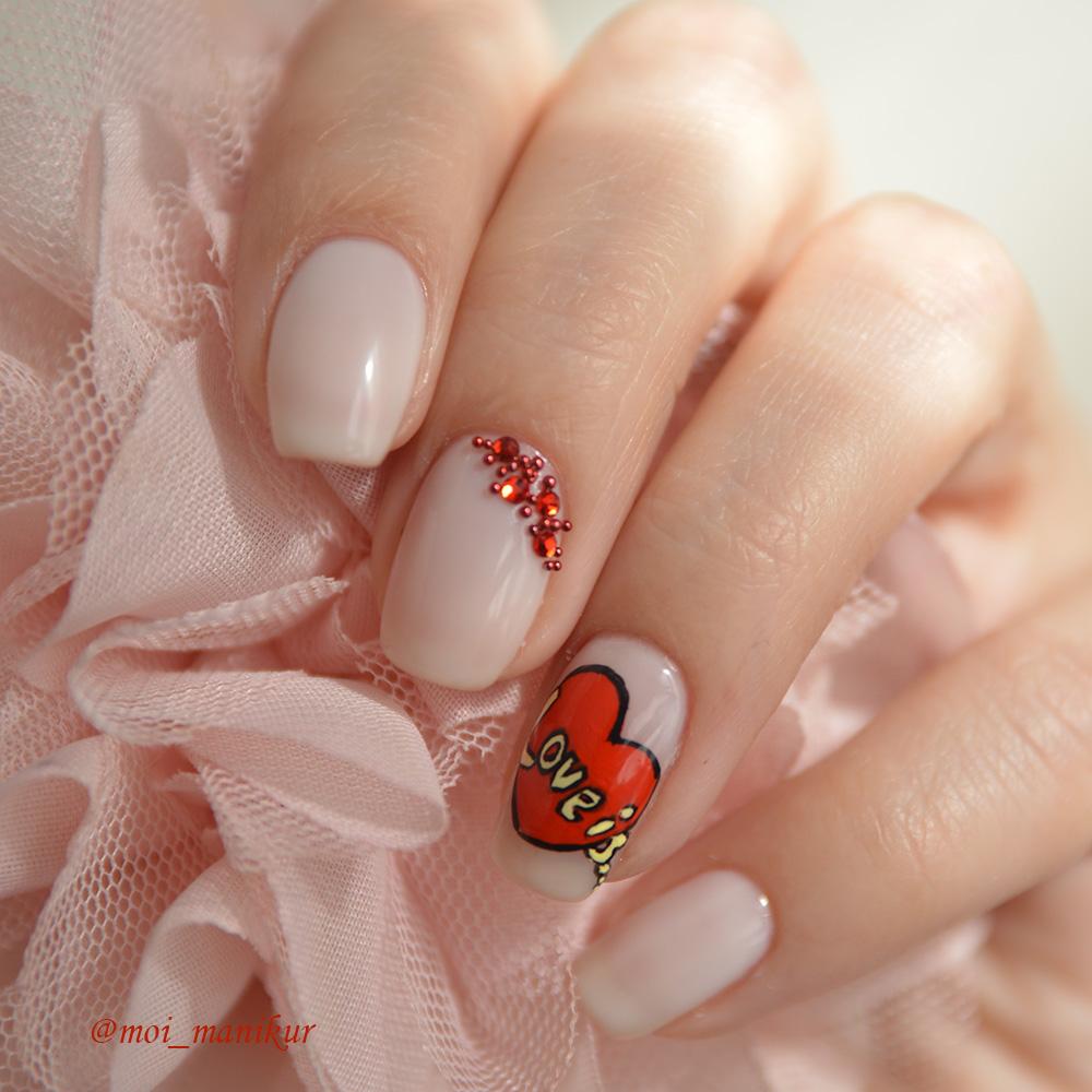 дизайн ногтей к 14 февраля