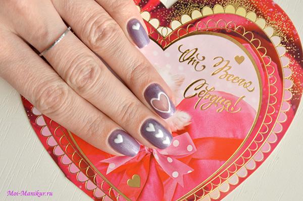 дизайн ногтей ко Дню Святого Валентина