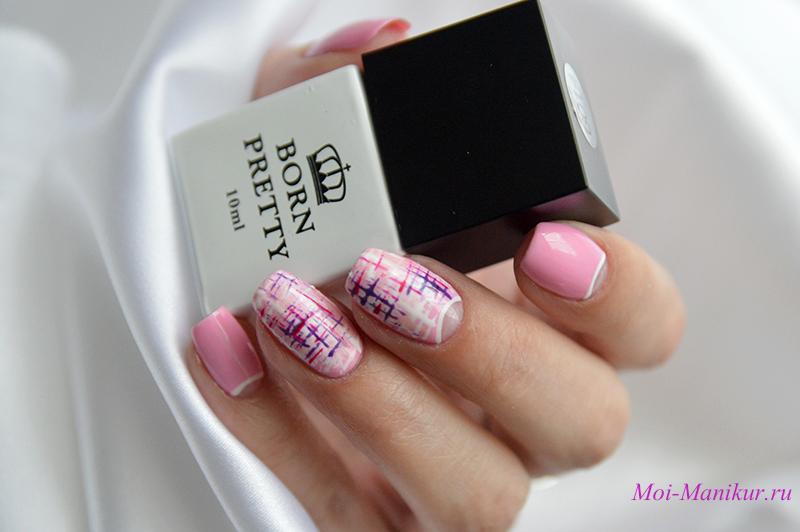 твидовый дизайн ногтей