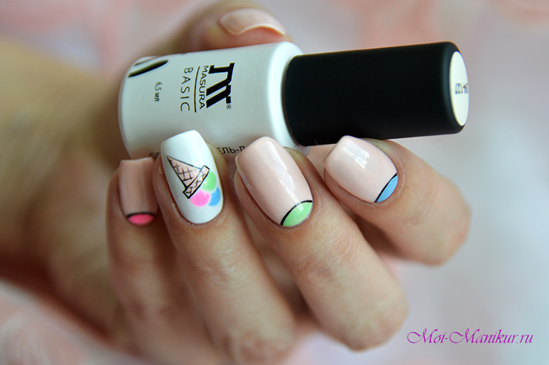 дизайн ногтей мороженое