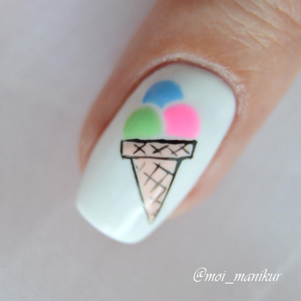 маникюр мороженое