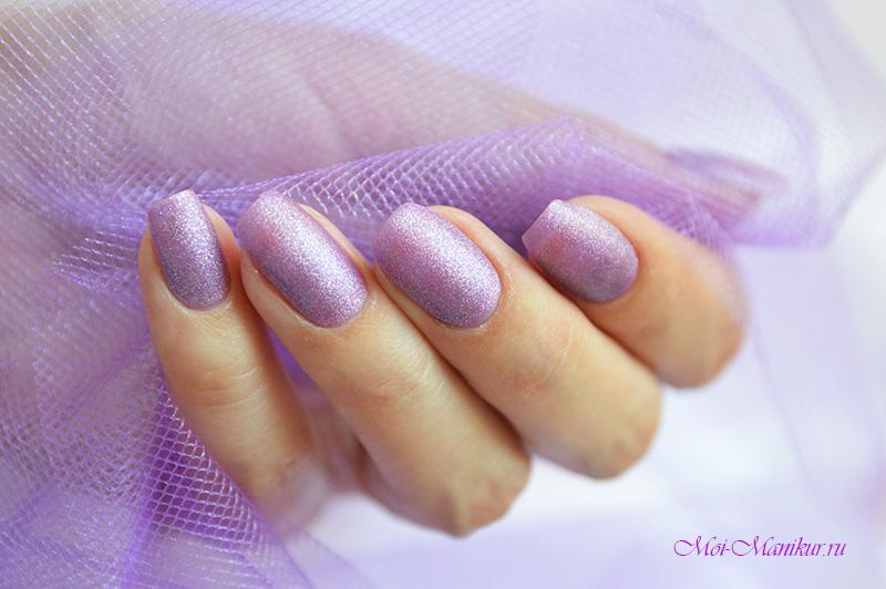 фиолетовый гель лак с блестками