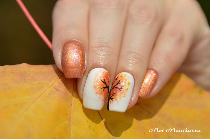 Ногти гель-лак фото осень