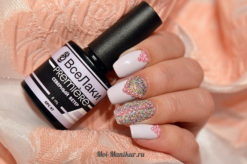 дизайн ногтей сахарок