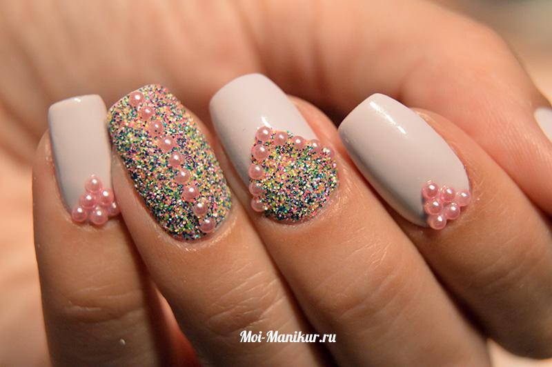 меланж для дизайна ногтей