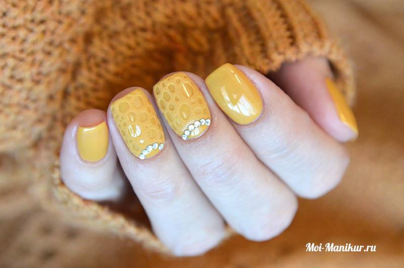 модный однотонный дизайн ногтей 2017