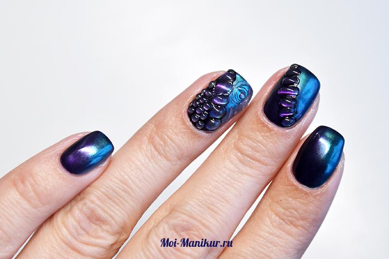 Дизайн ногтей поверх втирки на гель-лаке