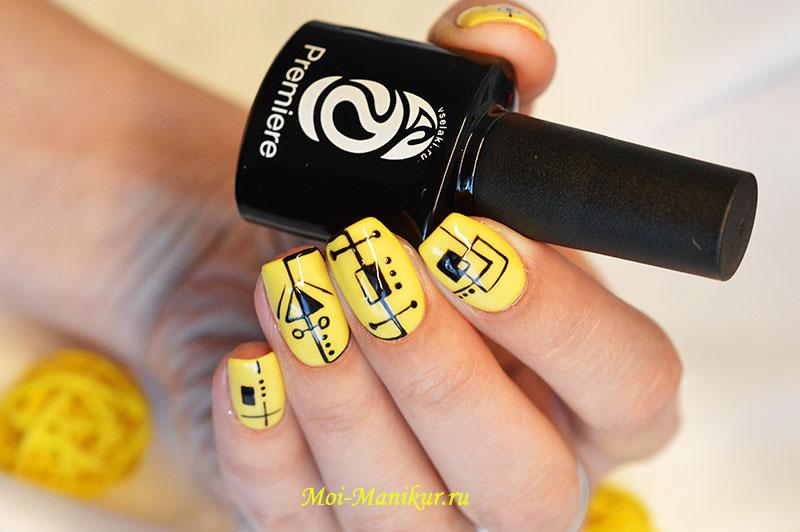 """дизайн """"тонкие линии"""" на ногтях"""