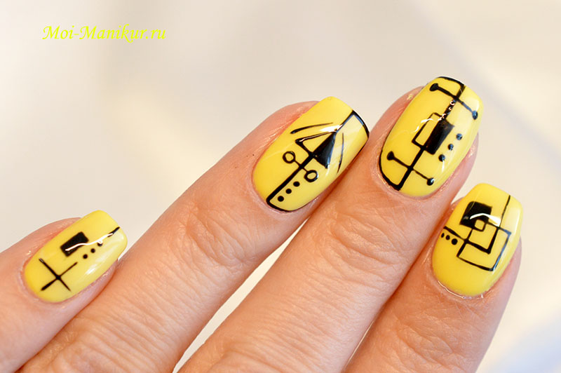 """дизайн ногтей """"геометрия"""""""