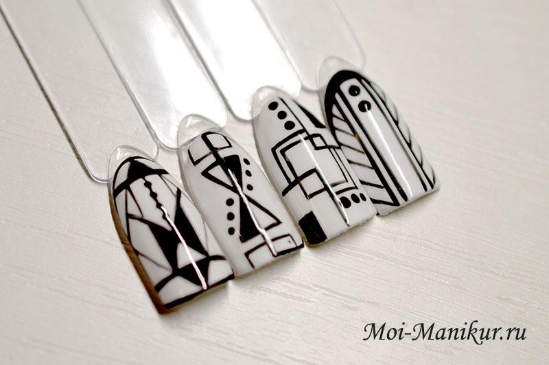 как рисовать тонкие линии на ногтях