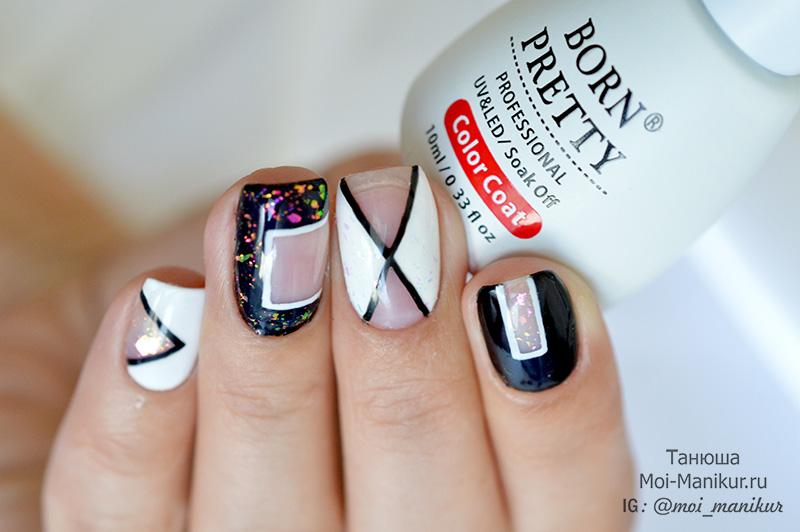 дизайн ногтей, хлопья Юки