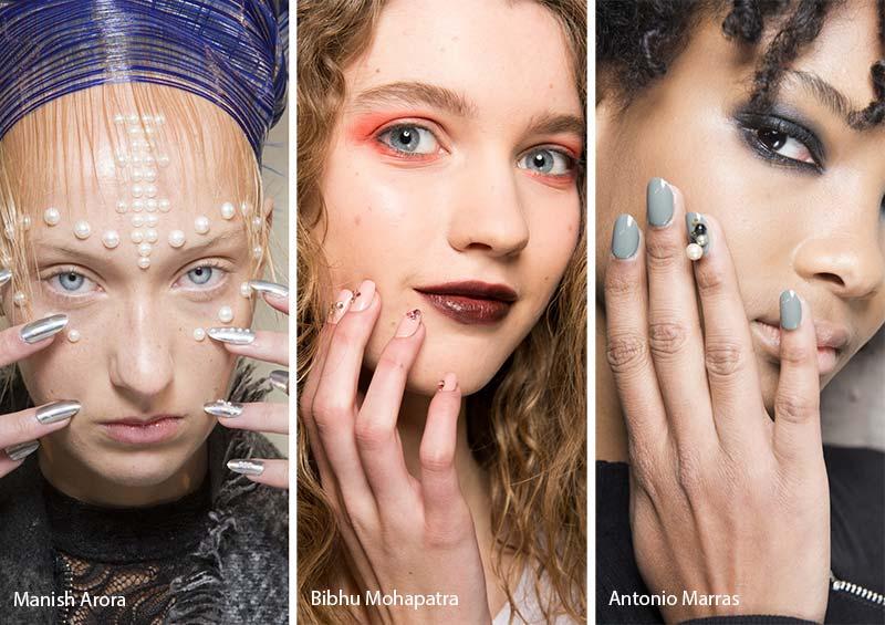модные ногти осень-зима 2017-2018: украшения