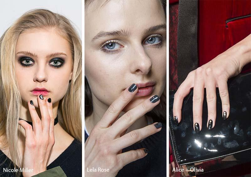 модные ногти осень 2017: горошек