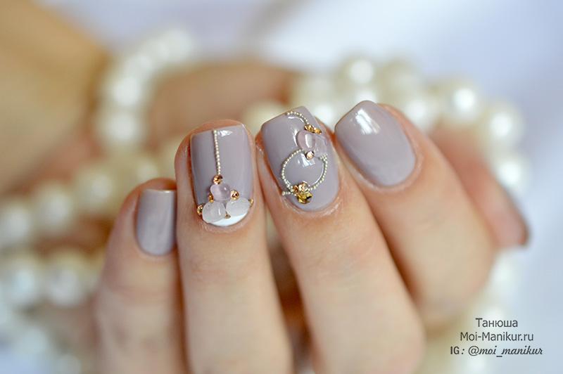 дизайн ногтей с натуральными камнями