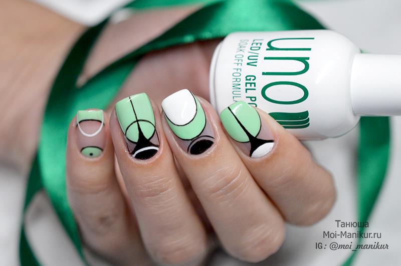геомтерический дизайн ногтей