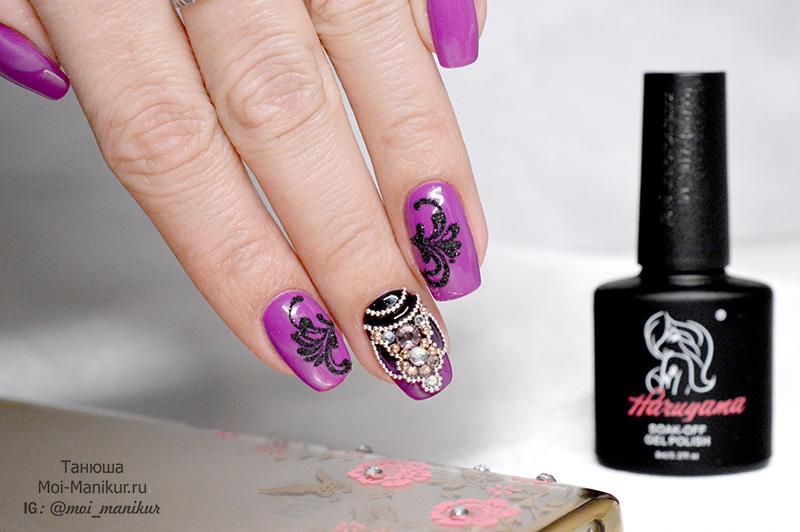 дизайн ногтей со стразами на гель лаке