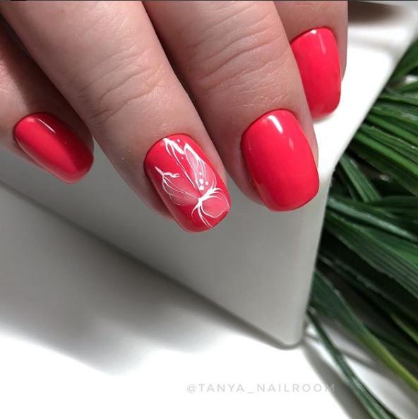 цветы на ногтях - мода весна-лето 2018