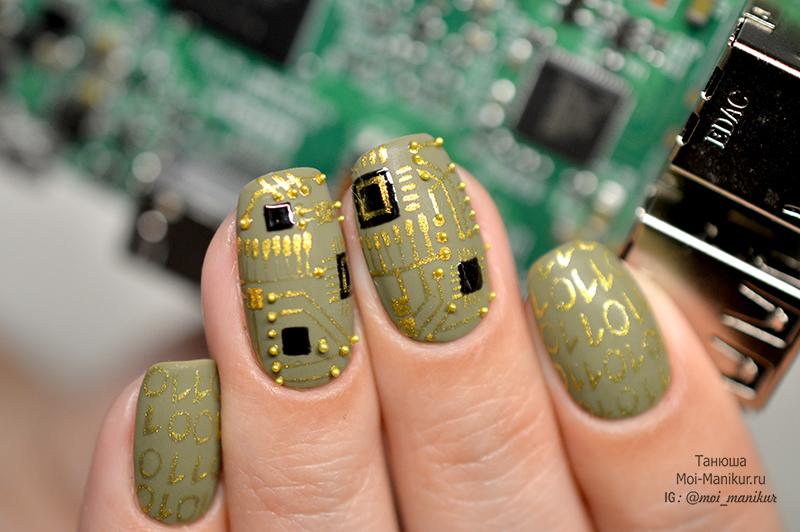 дизайн ногтей на 23 февраля