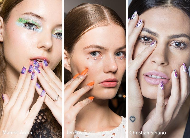 яркие матовые ногти - мода весна-лето 2018