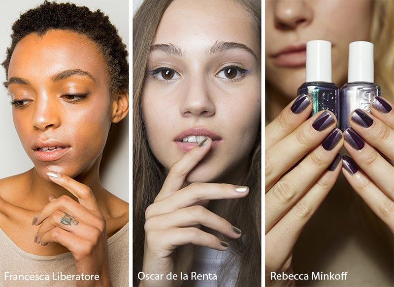 шиммер на ногтях - мода весна-лето 2018