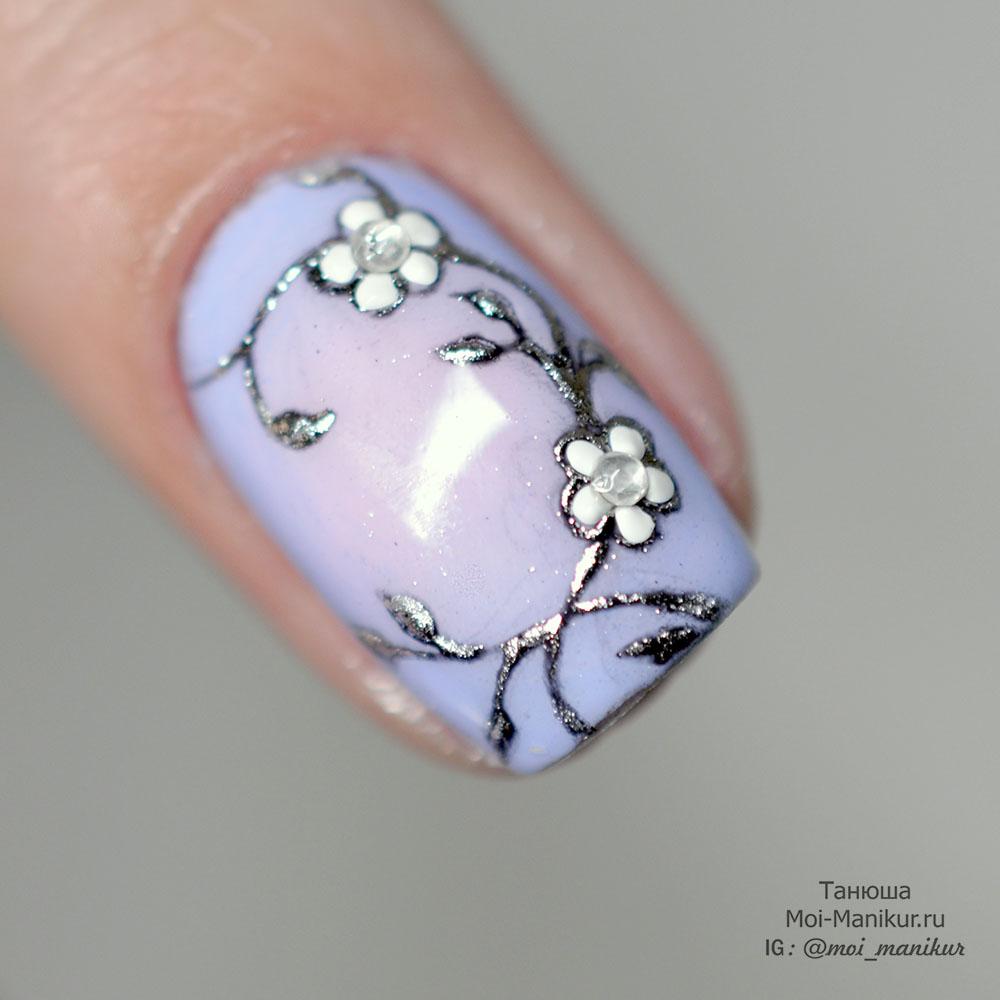 Дизайн на короткие ногти гель лаком, маникюр 24