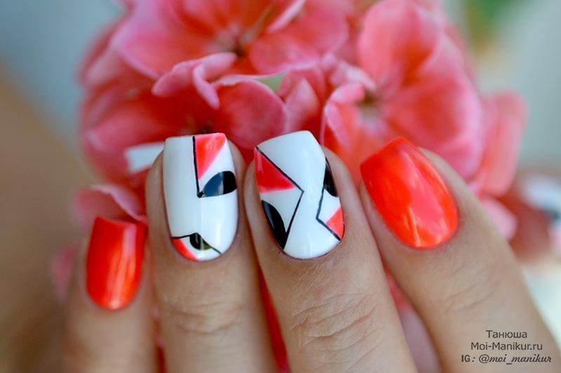 модная геометрия на ногтях