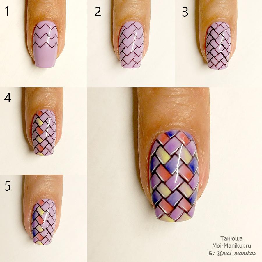 Фото урок геометрия на ногтях