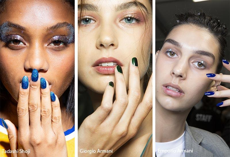 Модные цвета покрытия для ногтей в сезоне весна-лето 2019: темные