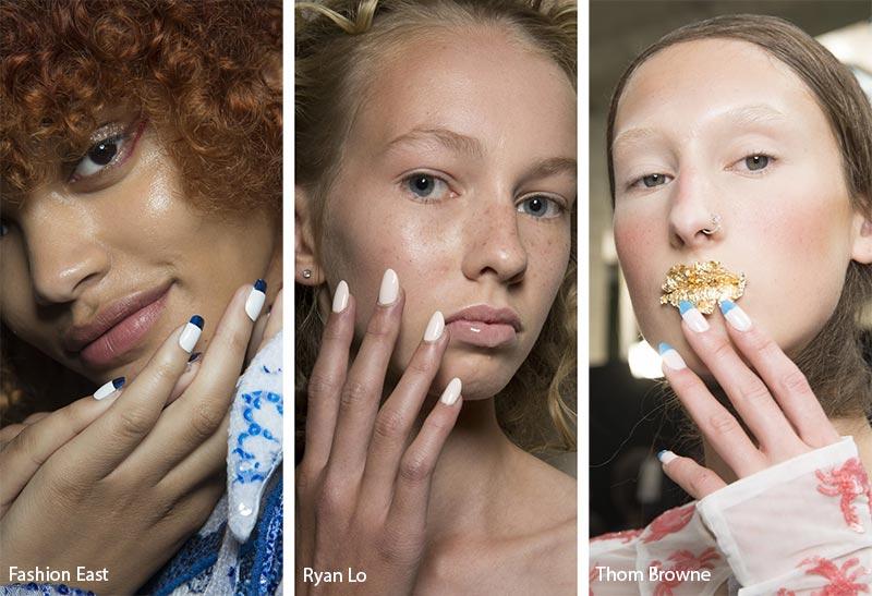 Модные цвета покрытия для ногтей в сезоне весна-лето 2019: белый