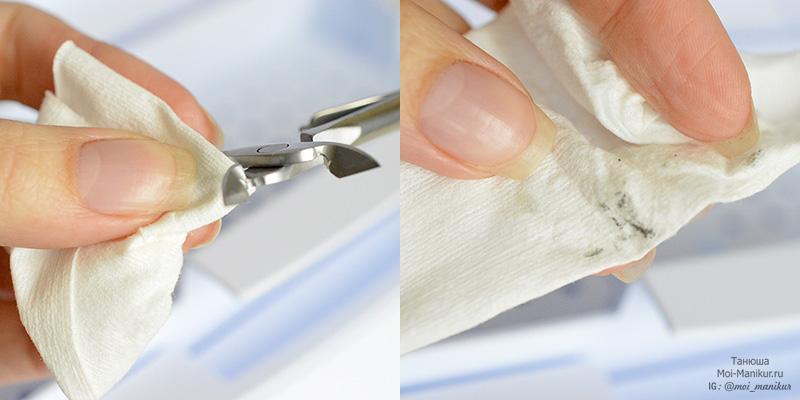 механическая очистка маникюрных инструментов