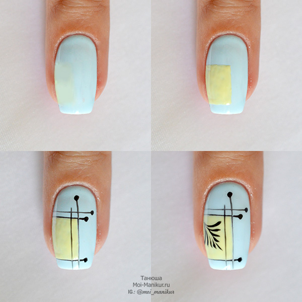 геомтерия на ногтях пошаговый фото урок