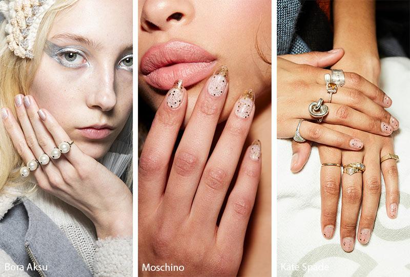 тенденции маникюра осень 2019 зима 2020: блестящие ногти