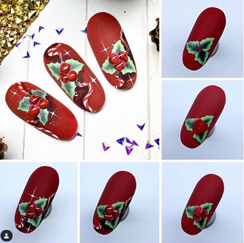 новогодний дизайн ногтей 2020