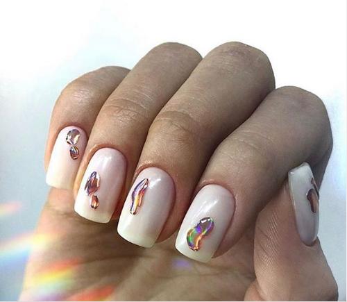 """дизайн ногтей """"слеза единорога"""""""