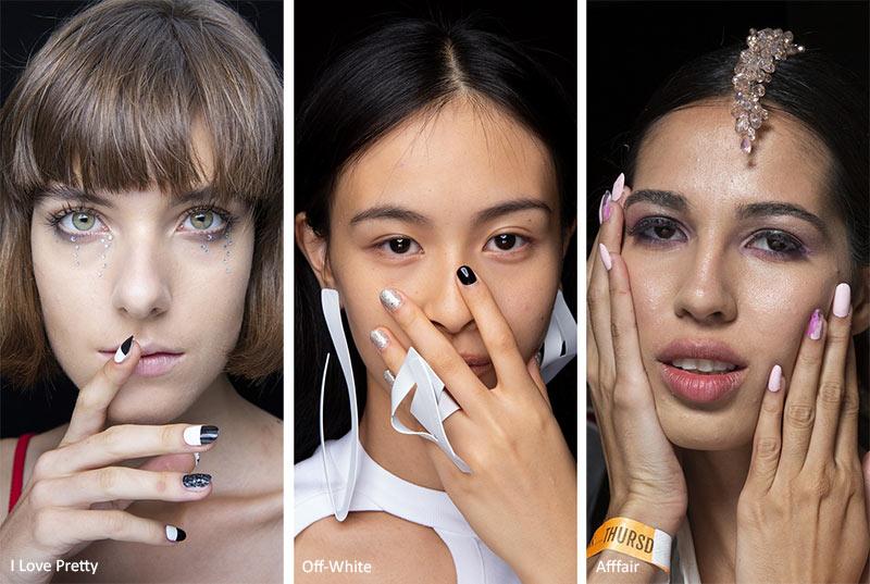 тенденции маникюра весна-лето 2020: ногти с акцентом