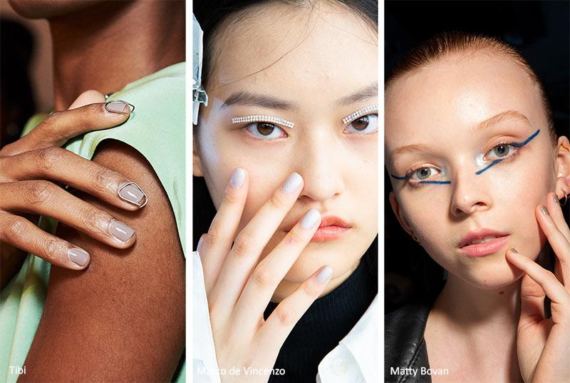 тенденции маникюра весна-лето 2020: серые ногти
