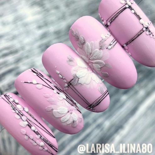 дизайн ногтей с рамкой