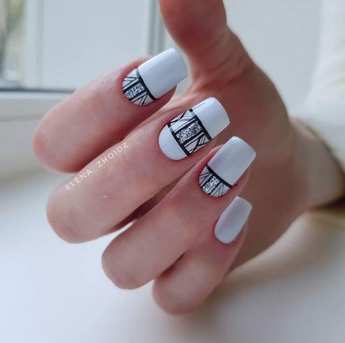 рамки в дизайне ногтей